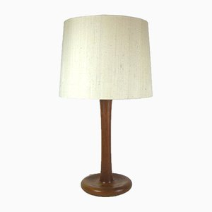 Large Vintage Danish Teak Table Lamp from Dyrlund