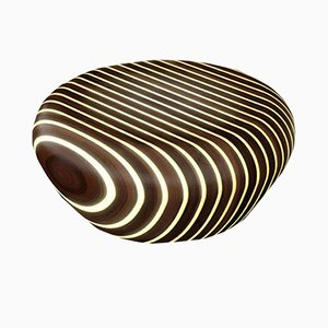 Bright Woods Collection Backlit Coffee Table in Wenge by Giancarlo Zema for Luxyde