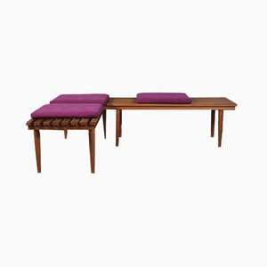 Danish Dining Corner Benches by Johannes Andersen for Christian Linneberg, 1960s, Set of 2