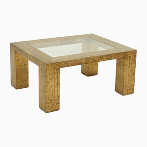 Brass and Glass Coffee Table by Rodolfo Dubarry, 1970s