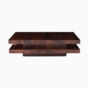 Vintage Two-Tier Sliding Coffee Table with Hidden Bar by Aldo Tura