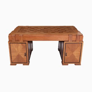 French Art Deco Desk in Oak