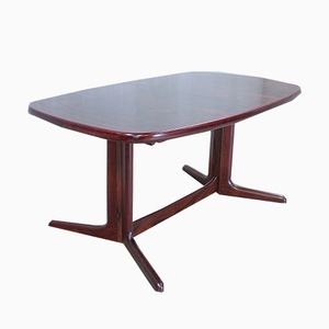 Vintage Oval Rosewood Dining Table from Rasmus, 1960s
