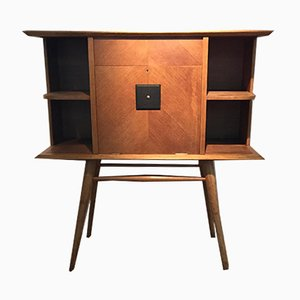 French Oak Bar Cabinet, 1950s