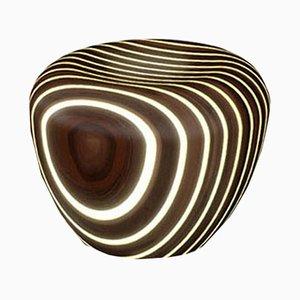 Beleuchteter Bright Woods Collection Hocker aus Wenge von Giancarlo Zema für Luxyde