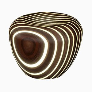 Bright Woods Collection Backlit Stool in Wenge by Giancarlo Zema for Luxyde