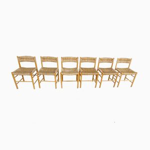 Dordogne Chairs by Charlotte Perriand for Sentou, 1960s, Set of 6