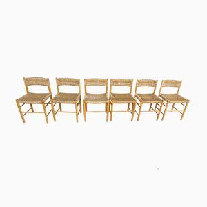 Dordogne Chairs von Charlotte Perriand für Sentou, 1960er, 6er Set
