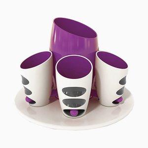 Tasses Collection Pressure en Porcelaine avec Porte-bouteille par Giancarlo Zema pour Bosa