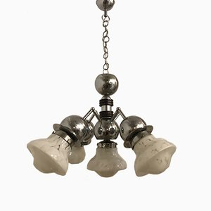 Mid-Century Murano Glass Chandelier from Mazzega, 1970s