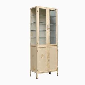 Industrial Iron Medical Cabinet, 1940s