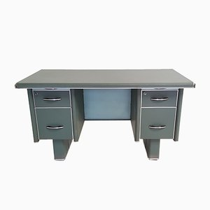 Industrial Metal Office Desk from Stafor, 1950s