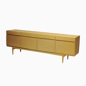 Model 66 Low Oak Sideboard by Ib Kofod-Larsen for Faarup, 1960s