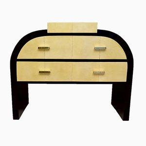 Art Deco Italian Macassar & Parchment Dresser, 1930s