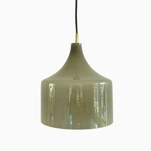 Grey Opaline Glass Pendant by Alessandro Pianon for Vistosi, 1960s