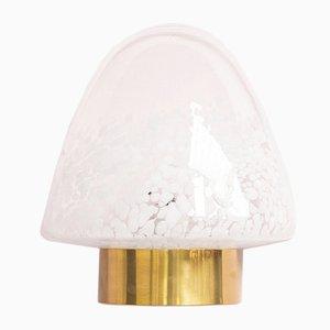 Italienische Murano Glas & Messing Wandlampe, 1970er