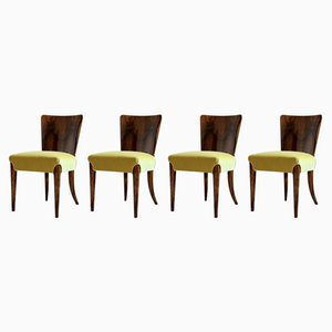 Art Deco Model H-214 Dining Chairs by Jindřich Halabala, 1930s, Set of 4