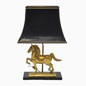 Vintage Pferde Tischlampe aus Messing
