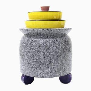Keramik Vase im Memphis Stil von Baldelli, 1980er