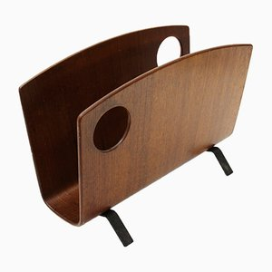 Plywood Magazine Rack by Campo e Graffi for Home, 1950s