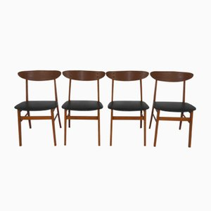 Chaises de Salon Vintage de Farstrup, Set de 4