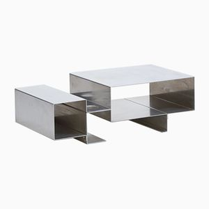 Coffee Table in Stainless Steel, 1970s