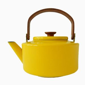 Spanish Enameled Yellow Teapot by Michael Lax for Copco, 1960s