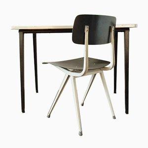 Kleiner industrieller Schreibtisch Set von Friso Kramer für Ahrend de Cirkel, 1950er