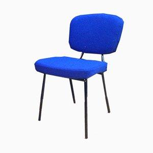 Stuhl aus blauer Wolle, 1960er