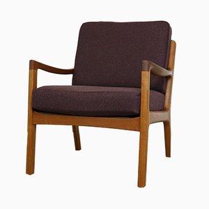 Vintage Danish Teak Senator Lounge Chair by Ole Wanscher for Cado