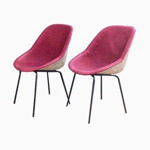 Sedie rosa di Genevieve Dangles & Christian Defrance per Burov, anni '50, set di 2