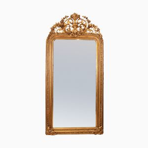 Large Victorian Giltwood & Gesso Mirror, 1870s
