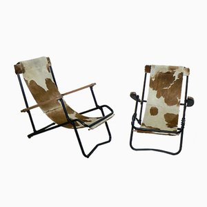 French Safari Chairs, 1948, Set of 2
