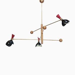 Lámpara de araña italiana, años 60