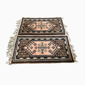 Vintage Handmade Tunisian Woolen Rugs, Set of 2