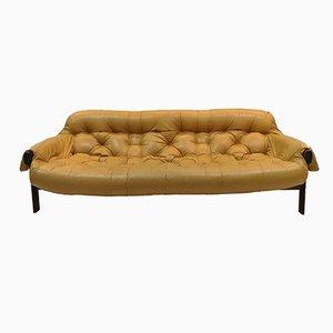 Vintage Palisander & Leder 3-Sitzer Sofa von Percival Lafer