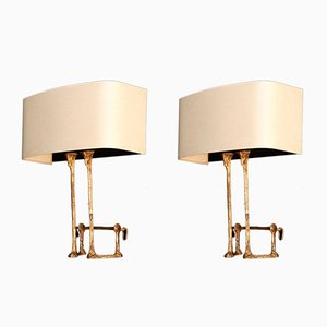 Vintage Mail Coach Sconces by Félix Agostini, Set of 2