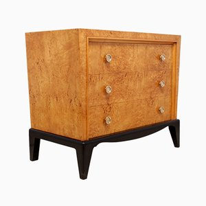 Art Deco Chest of Drawers in Karelian Birch, 1920s