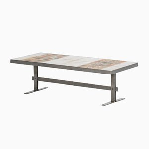 Table Basse avec Plateau en Céramique, 1960s