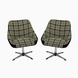 Vintage Swivel Lounge Chairs, Set of 2
