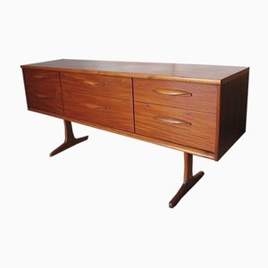 Long Chest of 6 Drawers by Frank Guille for Austinsuite, 1960s