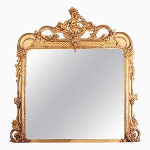 Specchio da parete vittoriano in legno dorato di Charles Nosotti