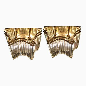 Mid-Century Gilt Wall Lights from Palme Chandeliers, Set of 2