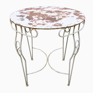 Mid-Century Painted Metal Garden Table