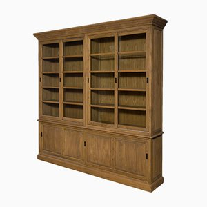 Large Vintage Oak Display Cabinet
