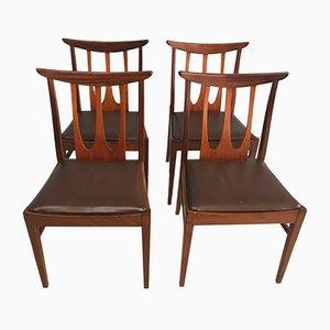 Esszimmerstühle von G-Plan, 1960er, 4er Set