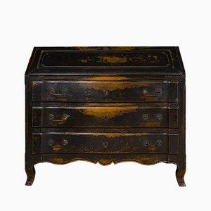 Buró de madera ennegrecida, mediados del siglo XIX
