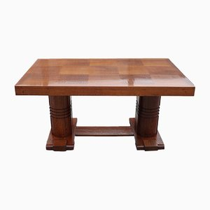 Art Deco Table in Oak by Charles Dudouyt, 1940s