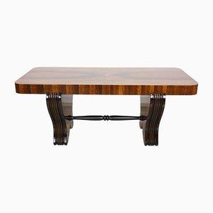 Mesa de centro Art Déco de madera