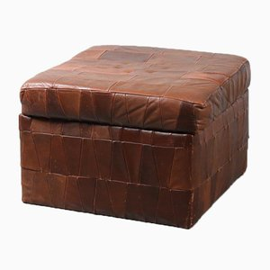 Patchwork Leather Pouf from de Sede, 1970s
